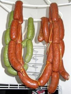 Green and red chorizo.