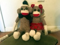 Finalize your Sock Monkey with a personal touch.